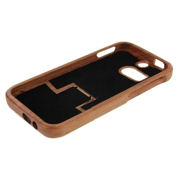 SUNSKY Maya Pattern Separable Cherry Wooden Case for HTC One M8 (Brown) (Intl)