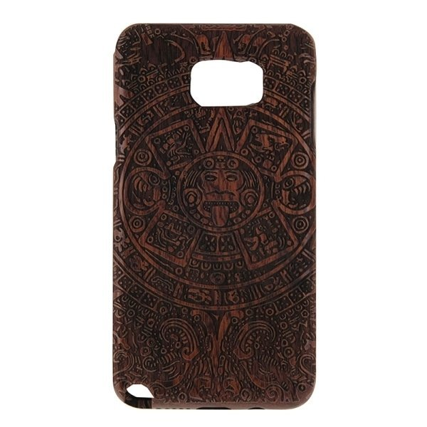 SUNSKY Maya Pattern Separable Rosewood Wooden Back Case for Samsung Galaxy Note 5 / N920 (Brown) (Intl)