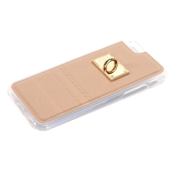 SUNSKY PU Paste Skin TPU Protective Back Case with Fox Pendant for iPhone 6 Plus/6s Plus (Gold) (Intl)