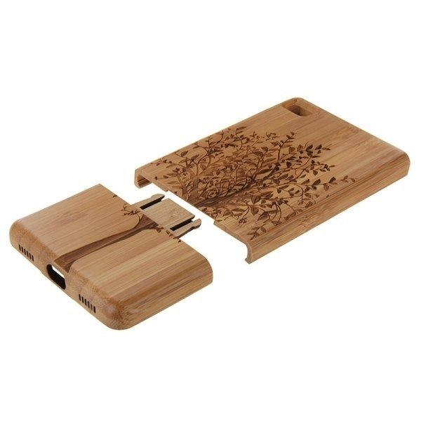 SUNSKY Tree Pattern Separable Bamboo Wooden Back Case for Huawei P8 (Brown) (Intl)
