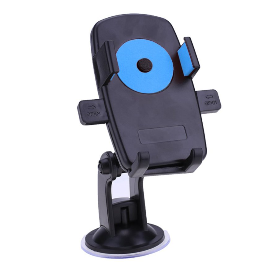 Sunweb Car Mount Holder 360 Rotation Windshield Bracket for Gps Mobile Phone (Blue) (Intl)