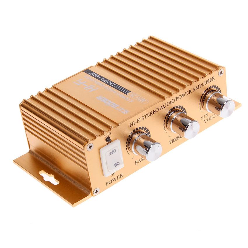 SUOER SON-8251B 180W Multifunction Stereo Car Audio Power Amplifier - Golden (Intl)