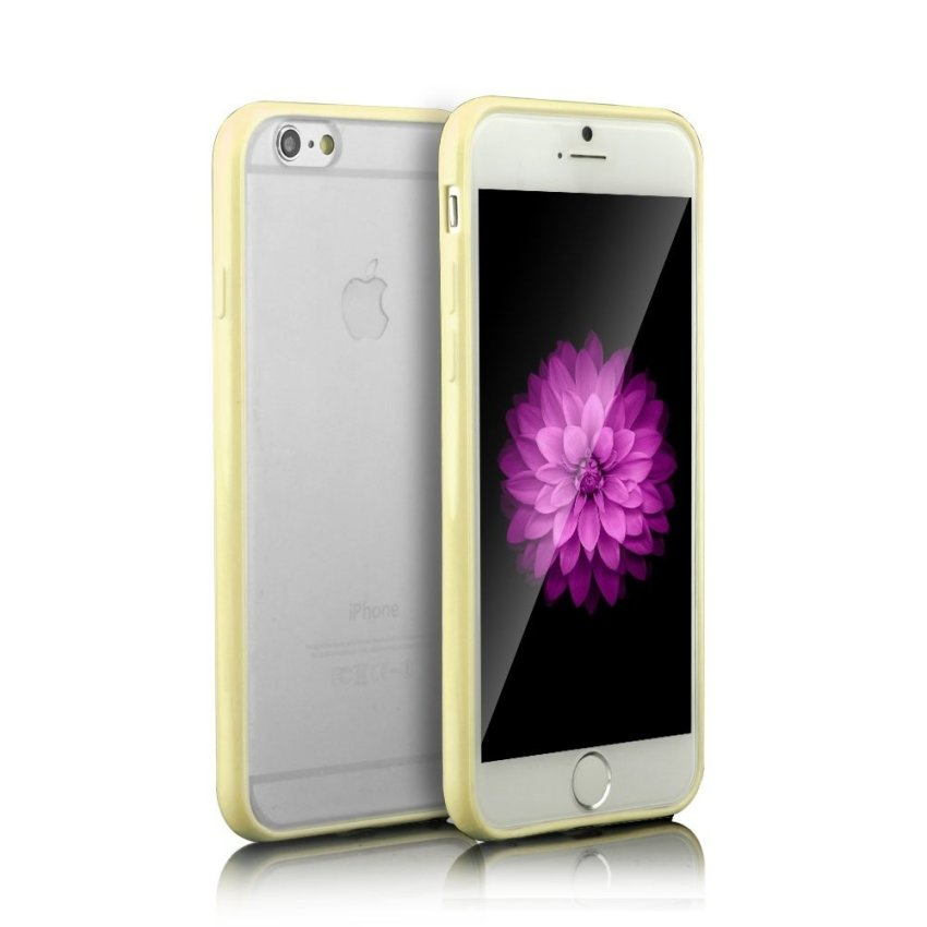 """Super Thin Matte Clear Transparent Crystal Hard Case Cover For iPhone 6 6s 4.7"""" (Beige) (Intl)"""