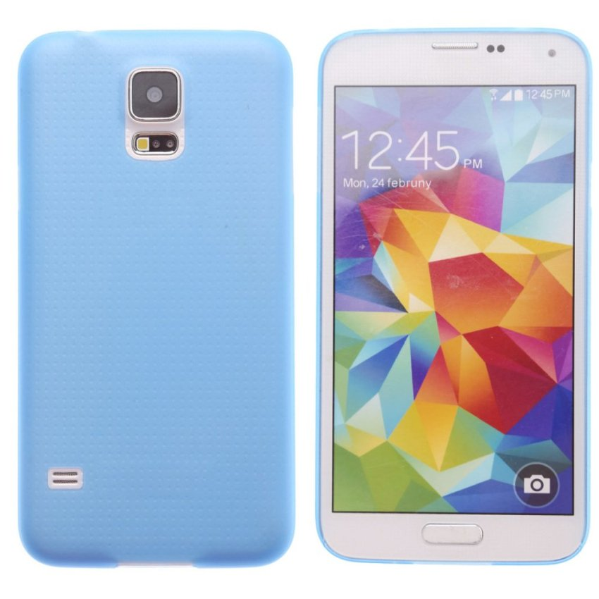 Super Thin Protective Back Case for Samsung Galaxy S5 i9600 (Blue)