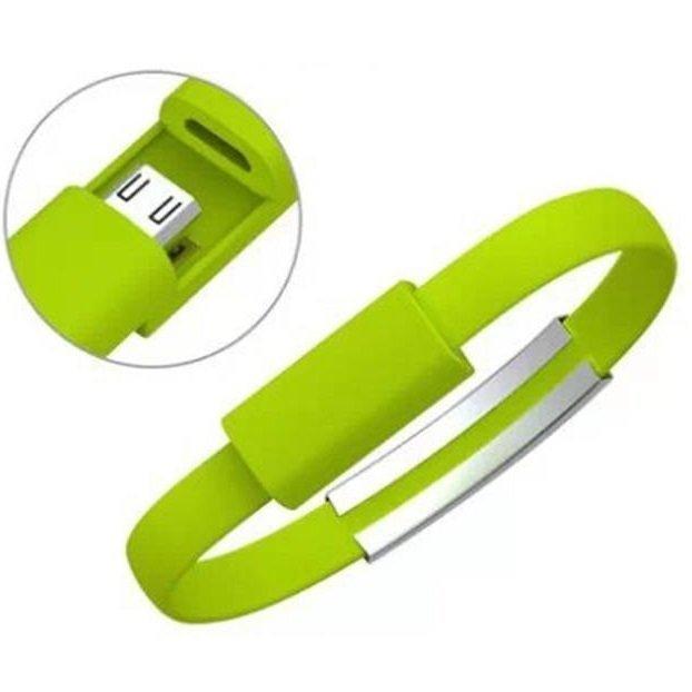 Super Wrist Silicone Bracelet Micro USB to USB for Smartphone