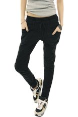 SuperCart Casual Sports Harem Pants (Black) (Intl)