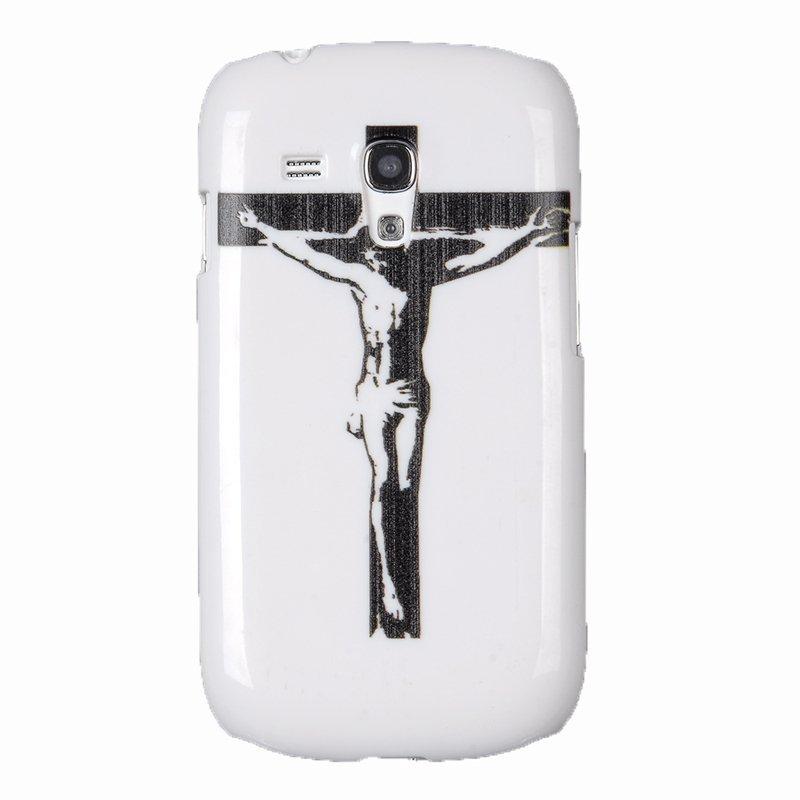 SuperCart Jesus Christ Cross Hard Shell Skin Case Cover for Samsung Galaxy S3 mini i8190 (White) (Intl)
