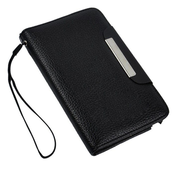 Supercart Synthetic Leather Wallet Cover for Samsung Galaxy Note II N7100 (Black) (Intl)