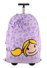 Surfer Girl Bags 2WH TD Backpack Trolley - Ungu