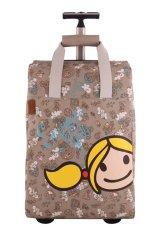 Surfer Girl Bags 2WH TD Chic Traveller Cabin Trolley - Cokelat
