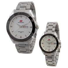 Swiss Army Couple Watch - Silver - Stainless - Swiss Army SA 5088 Couple Putih