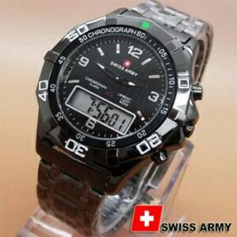 Swiss Army Dual Time - Jam Tangan Pria - SA00917 Hitam