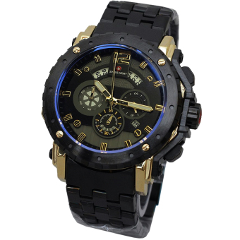 Swiss Army - Jam Tangan Pria - Hitam Gold - Strap Stainless Steel - SA 7269
