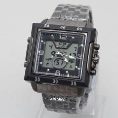 Swiss Army (Time) Jam Tangan Pria Elegant Dual Time SA 65 AD Stainless Steel Black