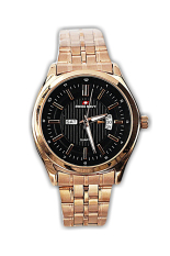 Swiss Navy Jam Tangan Pria-Kuning Tembaga-Strap Stainless-5857Lk Rose Gold Male (...one Size)