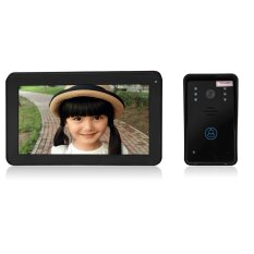 SY906A11 Wireless 9 Inch TFT Color LCD Screen Night Vision Video Door Phone Intercom Doorbell-UK PLUG