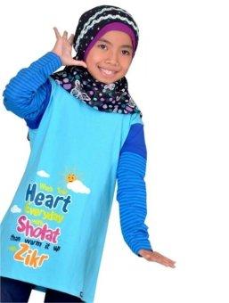Syamsakids Baju Muslim Anak Sl030 Biru Lazada Indonesia