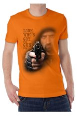 T-Shirt Glory Kaos 3D Gun 2 - Orange