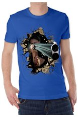 T-Shirt Glory Kaos 3D The Box Shoot Blue - Biru Benhur