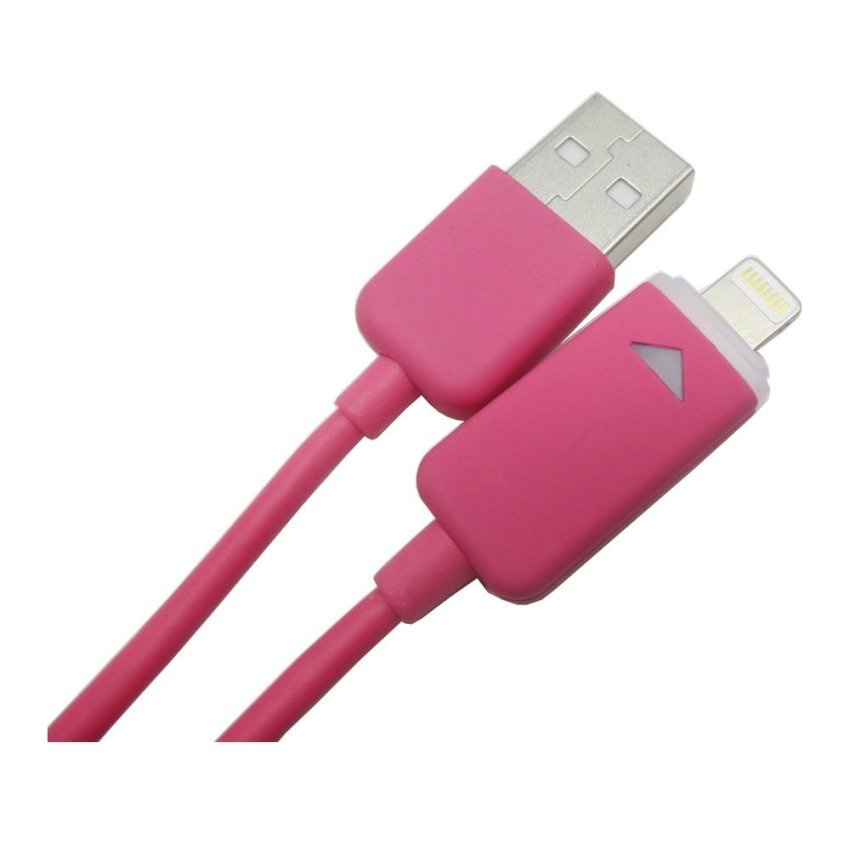 Taff Luminous Conector Lightning 8 Pin USB Cable iOS 8 Compatible - Pink