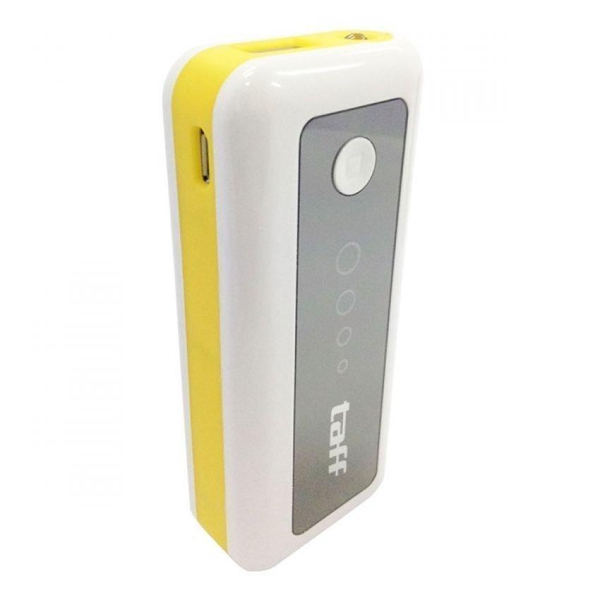 Taff MP5 for Tablet and Smartphone Power Bank - 5200mAh - Putih-Kuning