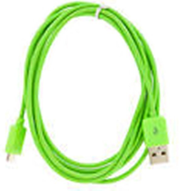 Taff Normal Round Charging SYNC Data Micro USB Cable 1m - Hijau