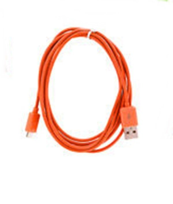 Taff Normal Round Charging SYNC Data Micro USB Cable 1m - Orange