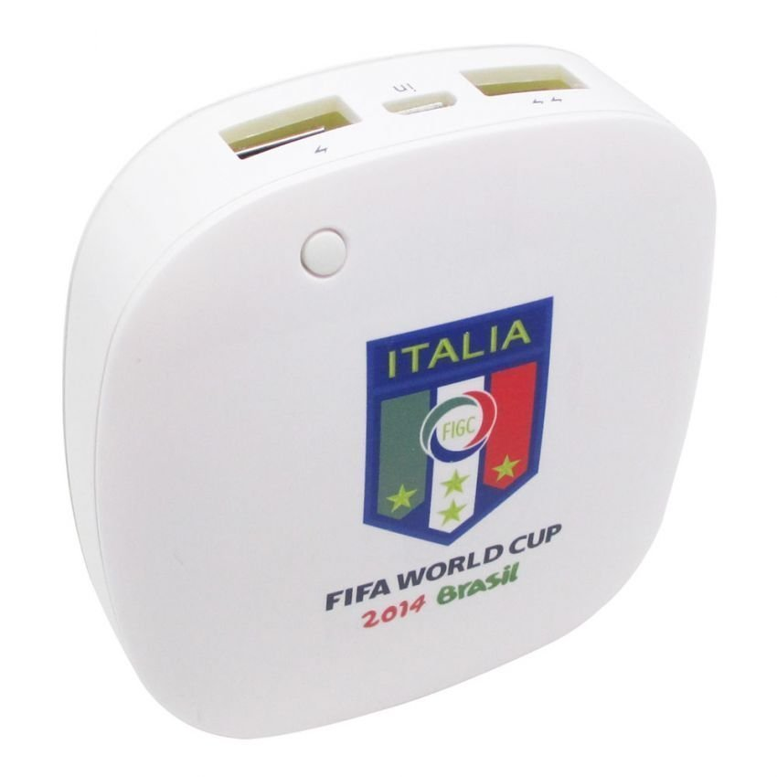 Taff Smart Power Bank 6000mAh 2014 Brazil World Cup 32 Team Italy - MP60 - Putih