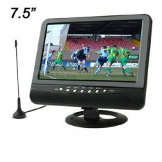 Taffware TFT LCD Color Analog TV 7.5 Inch with Wide View Angle - Hitam