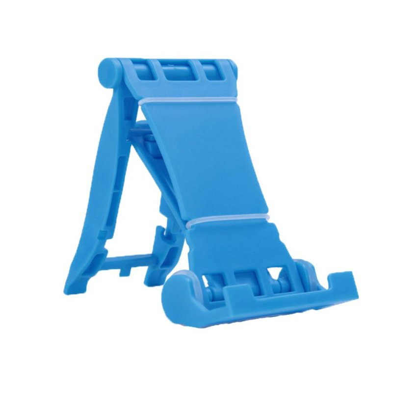 Terios Portable Fold-Up Stand Smartphone Tablet PC, Bracket, Holder MS - Biru