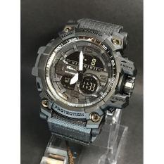 Tetonis Dual Time TET6577990HP Jam Tangan Pria Sport Rubber Strap (Hitam)