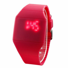 The New Ultra-thin Fashion Touch Screen LED Watches Candy Colored Thin Strap Watch - Rose