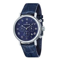 Thomas Earnshaw BEAUFORT ES-8051-03 Men's Blue Genuine Leather Strap Watch