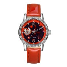 Time100 Constellation-Cancer Genuine Leather Strap Automatic Mechanical Ladies Watch W80050L.04A - Intl