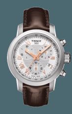 TISSOT PRC 200 Quartz Chronograph Lady Jam Tangan Wanita T0552171603302 - Leather - Brown