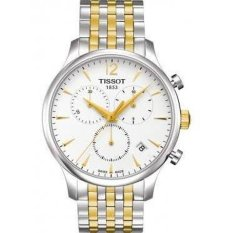 Tissot T-Classic Tradition Chronograph White Dial Two-tone Mens Watch T0636172203700 (Intl)