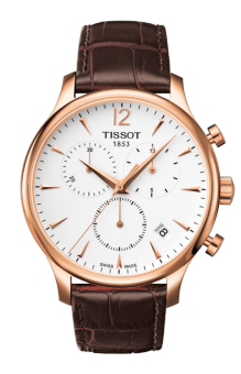 TISSOT Tradition Chronograph Jam Tangan Pria T0636173603700 - Leather - Brown
