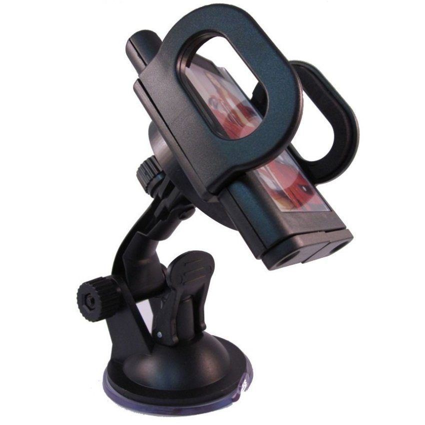 Titanium Car Holder untuk Mobile Phone - Tripod-1 - Hitam