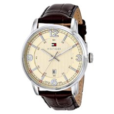Tommy Hilfiger Men's 1710343 Stainless Steel Brown Leather Watch - Intl