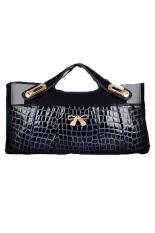 Toprank Envelope Clutch Bag Messenger Bag Shoulder Pouch Women Synthetic Leather Handbags (Blue)