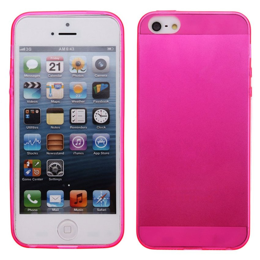 TPU Back Cover Protective Skin Case for iPhone SE / 5S / 5 Pink