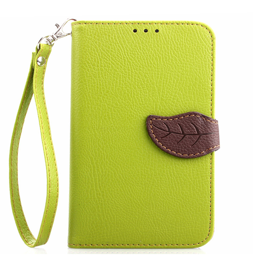 TPU Flip Leather Wallet Cover with Card Slot Holder for Samsung Galaxy Note 4 (Green) (Intl)