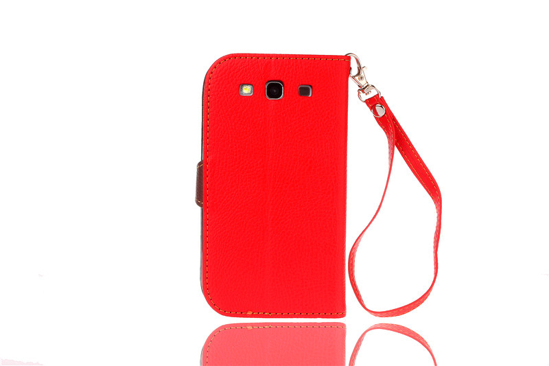 TPU Flip Leather Wallet Cover with Card Slot Holder for Samsung Galaxy S3 (Orange) (Intl)