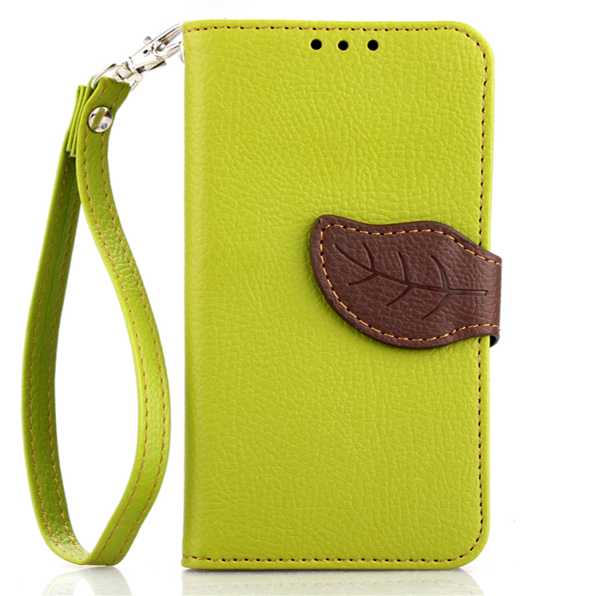 TPU Flip Leather Wallet Cover with Card Slot Holder for Samsung Galaxy S6 Mini (Green) (Intl)