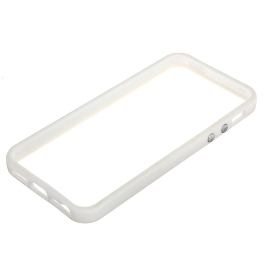 TPU Gel Bumper Frame Cadre Case for iPhone 4S 5S (White) (Intl)