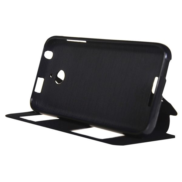 TPU PU Flip Leather Horizontal Cover with Card Slots Wallet Holder for HTC Desire 510 (Black) (Intl)