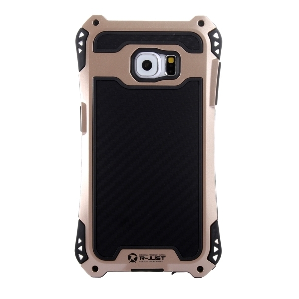 Transformers Style Carbon Fiber Metal Protective Case for Samsung Galaxy S6 Edge+ / G928(Gold) (Intl)