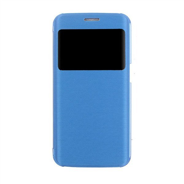 Transparent Leather Case Cover For Samsung Galaxy S6 Edge Blue