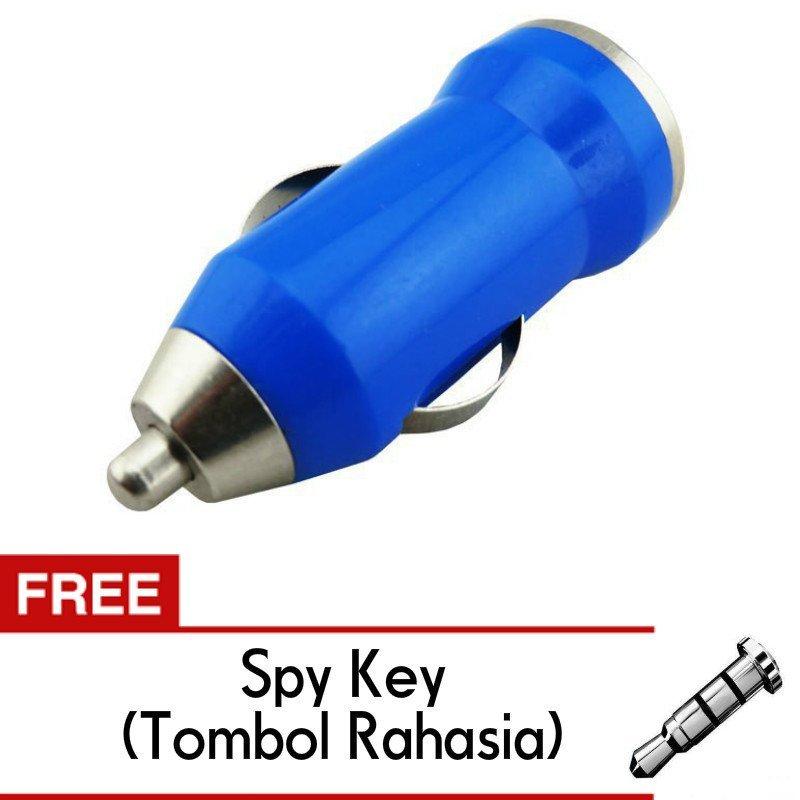 Trend's Car Charger 1A 1 Port (biru) - Casan Mobil Free spy key (tombol rahasia)