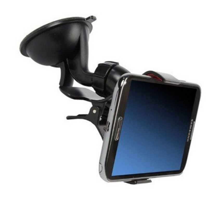 Trend's Car Holder 360° Rotating Universal Windshield Mount Stand Dudukan Free Waterproof Anti Air Smartphone - Putih